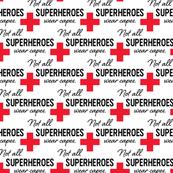 Face Mask - Red - Not All Superheroes Wear Capes - nurse, doctor, medical, COVID, coronavirus, corona mask, scrubs, hospital