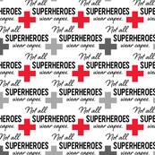 Face Mask - Red + Gray - Not All Superheroes Wear Capes - nurse, doctor, medical, COVID, coronavirus, corona mask, hospital, scrubs