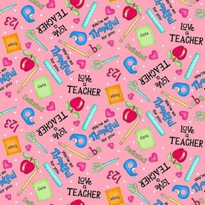 Love a Teacher Pink Small