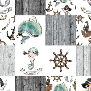 Patchwork pirate grey 6 inch square