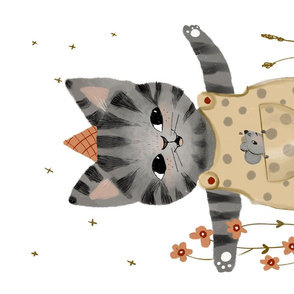 cat teatowel