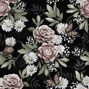 Moody florals small scale