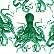 """green octopus verrucosus lovey 18x18"""" patch"""