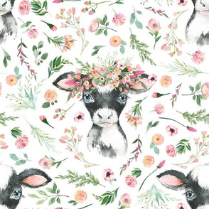 floral baby cow