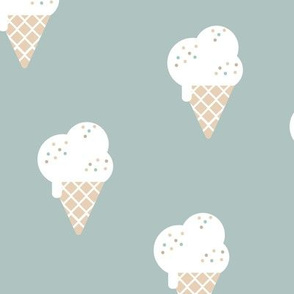 Little ice cream cone and confetti disco dip summer snack kids moody blue boys LARGE