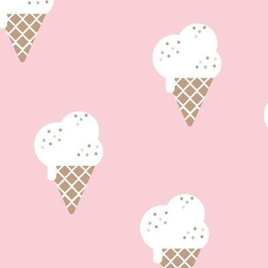 Little ice cream cone and confetti disco dip summer snack kids cinnamon soft pink girls LARGE