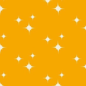 Muslin Stars On Yellow Orange