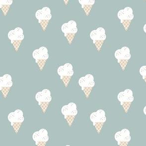 Little ice cream cone and confetti disco dip summer snack kids moody blue boys