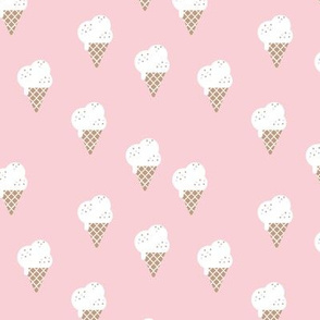 Little ice cream cone and confetti disco dip summer snack kids girls soft pink