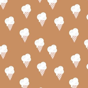 Little ice cream cone and confetti disco dip summer snack kids cinnamon brown white neutral