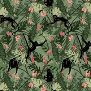 Monkeys - Dark Green -Medium