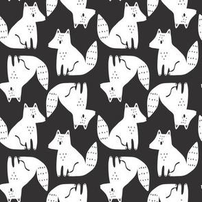 fox stripe // black and white