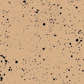 Ink speckles and stains spots and dots messy minimal boho design Scandinavian style nursery latte coffee black