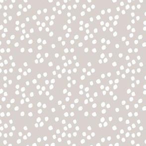 Teeny tiny little spots and dots irregular ink spot Scandinavian boho minimal animal print white cool gray