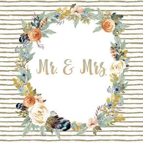 """54""""x72"""" Mr. & Mrs. Western Autumn Blanket"""