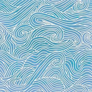 Tumbling ocean waves - smaller scale