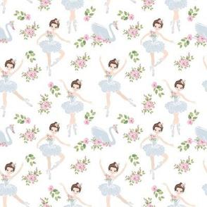 little ballerina girls with  swan