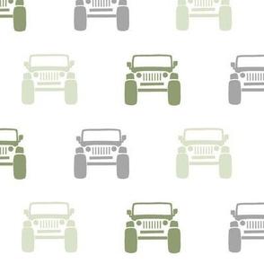 """2"""" Jeepin - green"""