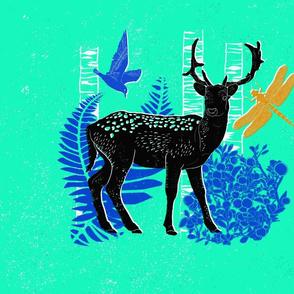 Block Print Deer