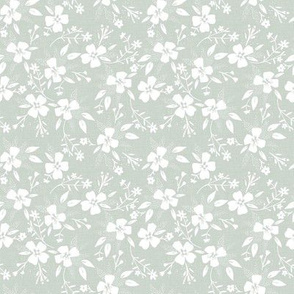 Little Ditsy Floral in Silver Sage
