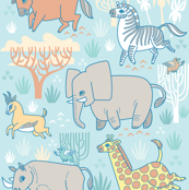 Safari Smiles in Blue