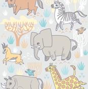Safari Smiles in Gray
