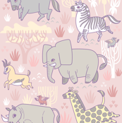 Safari Smiles in Pink