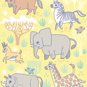 Safari Smiles in Yellow