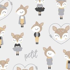 Petit Deer - vector petit houndstooth