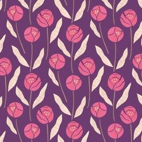 Pink Cut Paper Flowers