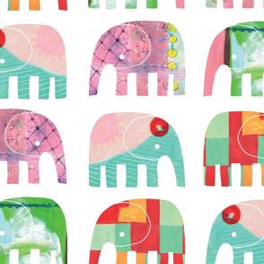 PAINTY BABY ELEPHANTS 01 - largest