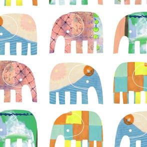 PAINTY BABY ELEPHANTS 02 - Largest