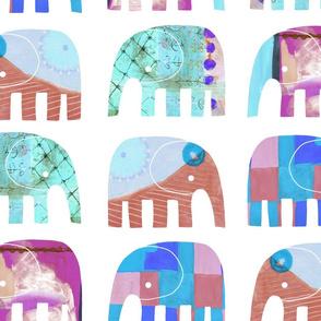 PAINTY BABY ELEPHANTS 03 - Largest