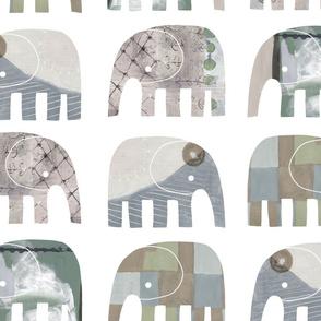PAINTY BABY ELEPHANTS 04 - Largest