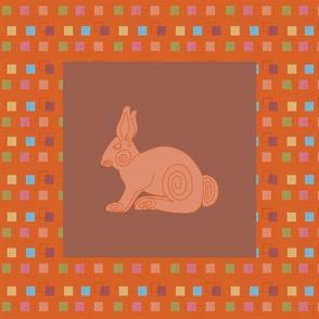 Spiral Rabbit Panel_12.5in