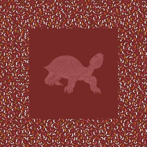 Spiral Turtle Panel_12.5in