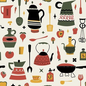 Smaller Scale - Kitschy Kitchen in Olive