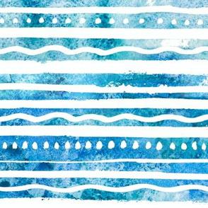 Blue Watercolor Waves