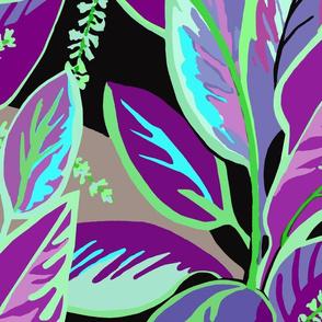 Jumbo Tropical T-leaf Bloom-purple