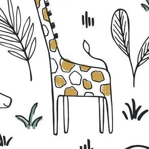 Sleepy Safari - Nursery Animals Large Scale