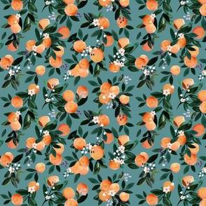 Dear Clementine teal oranges XS