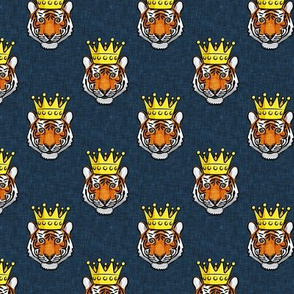 (small scale) Tigers with crown - dark blue - LAD20