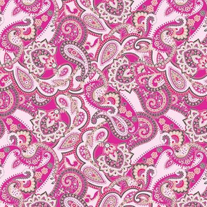 Paisley-sixties-hippie-swirl-hot-pink-VERY SMALL