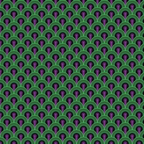Overlook Hotel Carpet from The Shining: Purple/Green (small version)