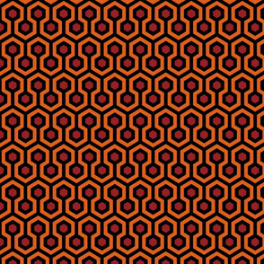 Overlook Hotel Carpet from The Shining: Orange/Red/Black (small version)
