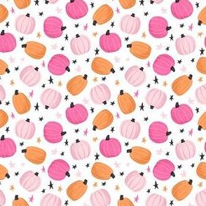 Cute Pink & Orange Pumpkins and Stars - XS