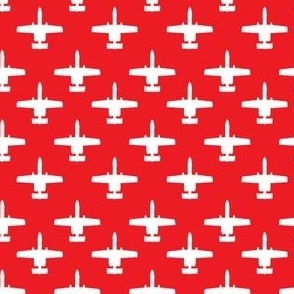 A-10 Warthog - white on red