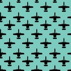 A-10 Warthog - black on turquoise