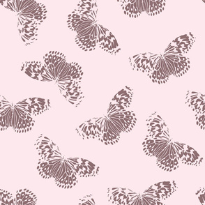 Butterfly | plum + pale blush