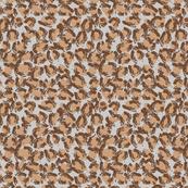 Leopard on Grey